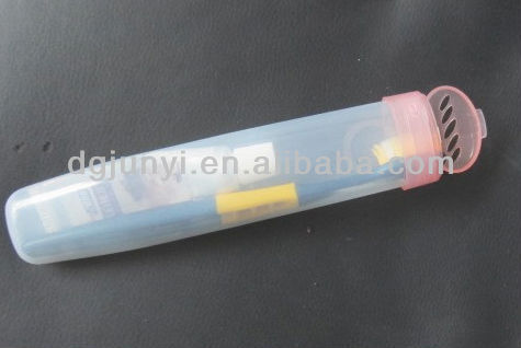 custom made eco-friendly plastic storage container for toothbrush