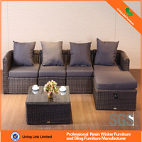 outdoor rattan furniture plastic sofa in garden sets design