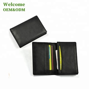 KID custom slim PU PVC gift name business leather card holder