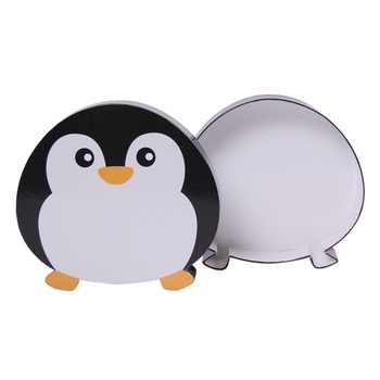 hot selling penguin shape chocolate paper box