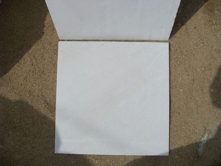 Pure White Marble Slab top sell man made stone snow white marbles