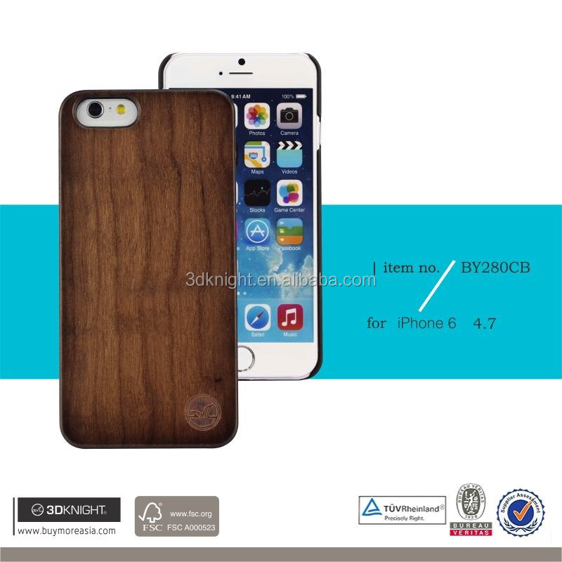 Antique Color Blank Hard Back Cover, Wholesale Natural Wood Bamboo Cover Newest Design Case Cell Phone Protector for iPhone