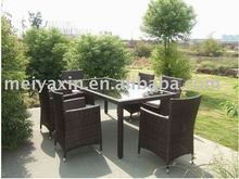MG-155 Model style outdoor furniture rattan dining table set