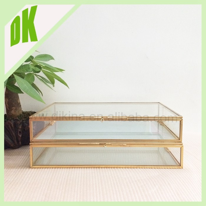 Housekeeping Organization holder Japanese Style=> BIG Travel Home Wedding decorative Trays> glass jewelry storage boxes foldable