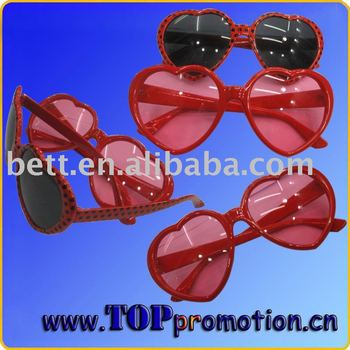 heart shape party sunglasses