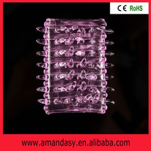 Wholesale price crystal condom penis sleeve extended cock sleeve for male JF003