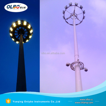 20m 25m 30m 35m 40m 45m 50m polygonal high mast lighting poles specification for sport center