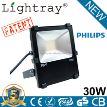 lighting led high bright long working time 30w rechargeable led flood light