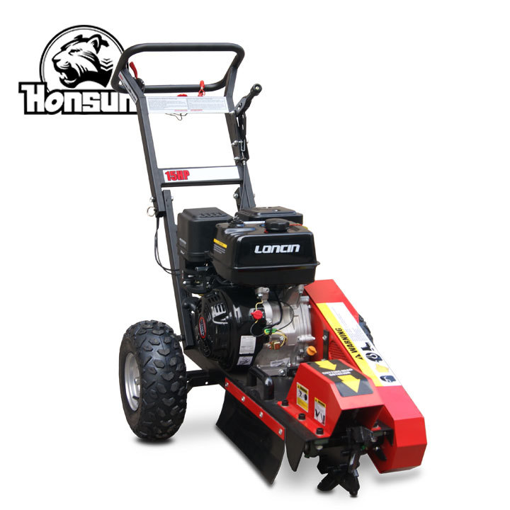 Honsun professional supplier Honda 13HP gas engine 9 teeth high effciency popular 15hp stump grinder