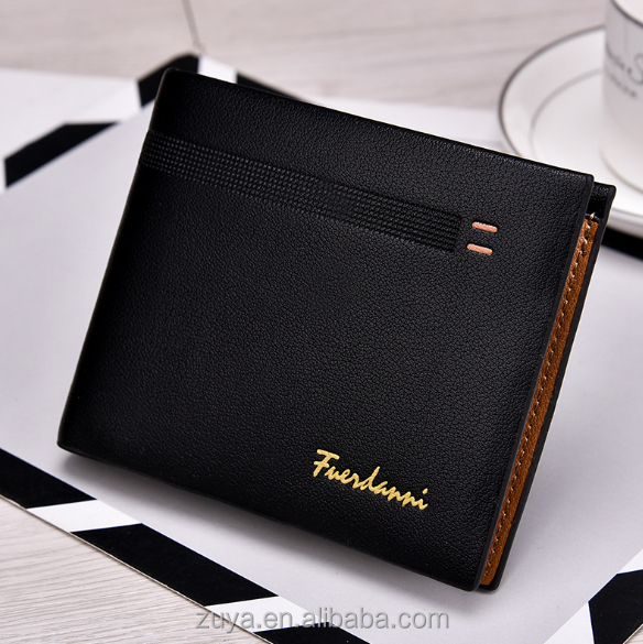 China Fashion design men leather <strong>wallet</strong> with credit card holders slim leather <strong>wallet</strong> for men boyspopular in US market