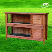 Rabbit hutches with plastic tray wooden