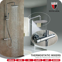Surface mounted thermostatic shower faucet for Family use