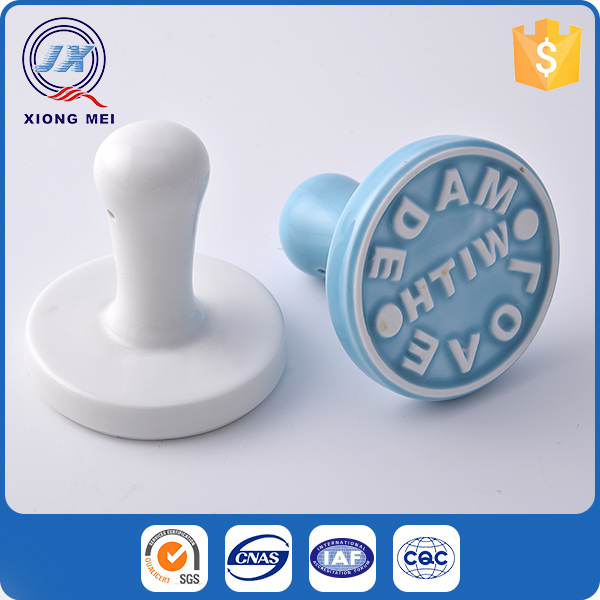 Best selling food grade porcelain cookie stamp for gift