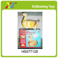 New design & funny B/O lay egg duck,popular animal toys