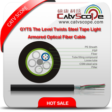 Structure Cabling Optical Fiber GYTS The Level Twists Steel Tape Light Armored Optical Fiber Cable