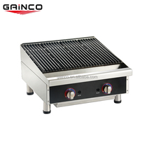 Commercial table top gas lava rock barbecue grill