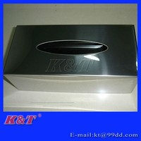 nice quality Rectangular stainless steel tissue box