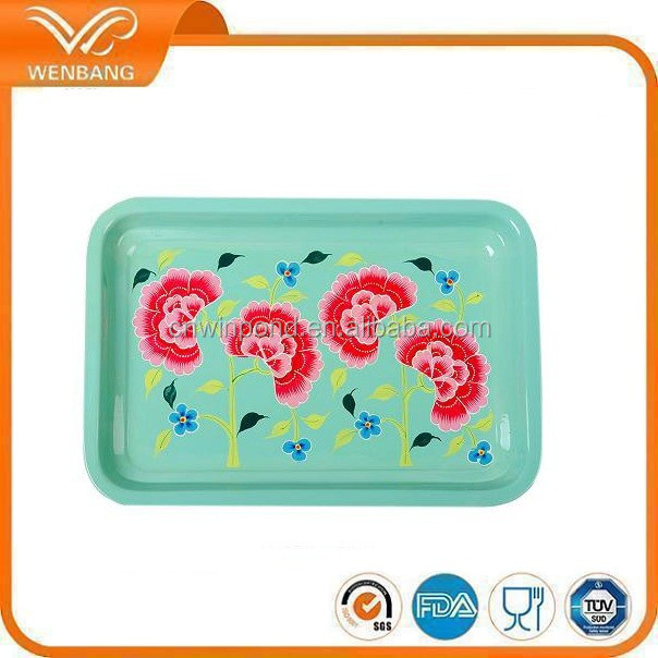Melamine plastice type and Dishes &plates dinnerware type large melamine serving tray