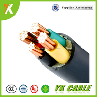 Low/medium voltage 4 core 10mm PVC electrical cable types