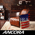 American style luxury genuine leather sofa/New designed pattern sofa