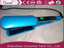 2017 New professional wide plate flat iron hair straightener with teeth With Infred FunctionJD-050