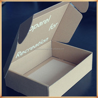 Custom printing corrugated t-shirt shipping packaging boxes