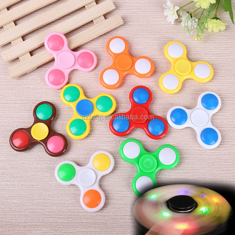 2017 Hot selling Led Hand Spinner Finger tips Spiral Fingers EDC Hand Spinner Acrylic Plastic Fidgets Toys light hand spinner