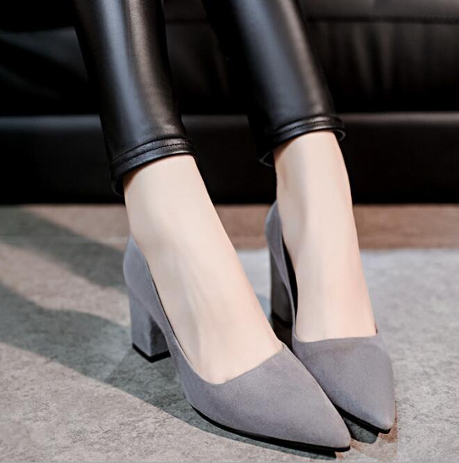 zm41195a brand new design ladies' simple office beautiful elegant high heel women shoes