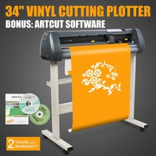 "Artcut software 34"" Vinyl Cutter Sign Cutting Plotter W/Artcut Software Design/Cut"