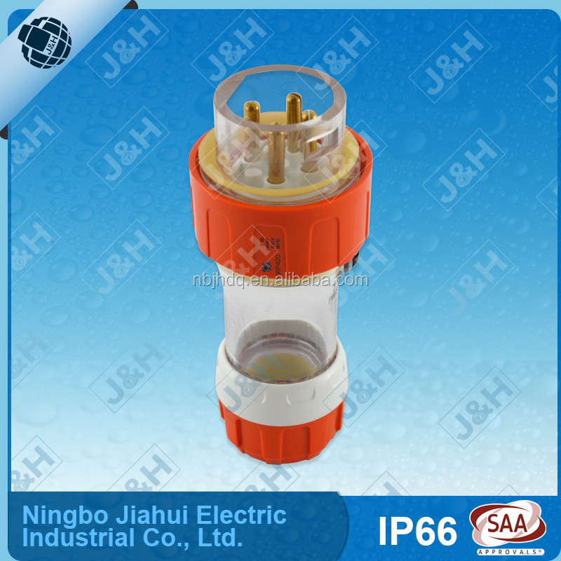 Chinese export wholesale electrical plug,as/nzs3123 australian waterproof IP66 industrial plug and socket, triple phase plug