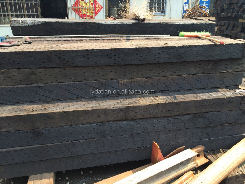 used railway wooden sleeper for landscaping