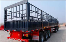 Chinese Brand 3 Axle to Load 55T 13M Fence Semi Trailer