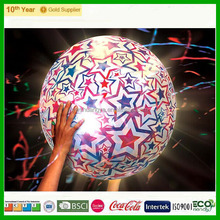 2015 Newest design !!!!! TOP Quality inflatable glow beach ball