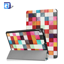 2017 Colorful Printing Painted Three Fold Flip Leather PC Back Case Smart Cover For iPad Pro 10.5 inch
