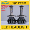 HOT popular car accessories 12v/24v led headlamp H/L beam H4 cr ee v18 led headlight