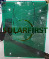 100W Green Colored Transparent Glass BIPV Thin Film Amorphous Solar Panel