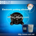 Liquid electronic potting silicone rubber for lamp monitoring and control device