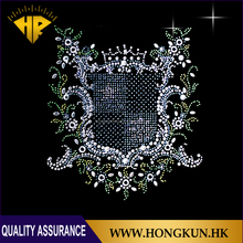 Wholesale Cool design hot fix rhinestone heat transfer motif appliques, rhinestone heat transfer design