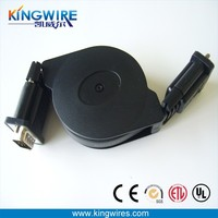 high quality retractable vga cable for multimedia and computer