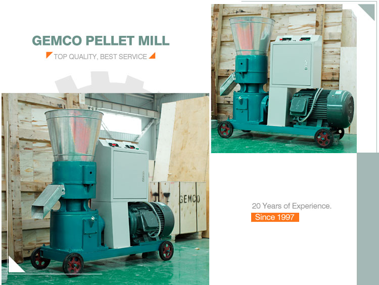 GEMCO factory price small fish dog rabbit pet food extruder uses animal food pellet making machine for poultry feed