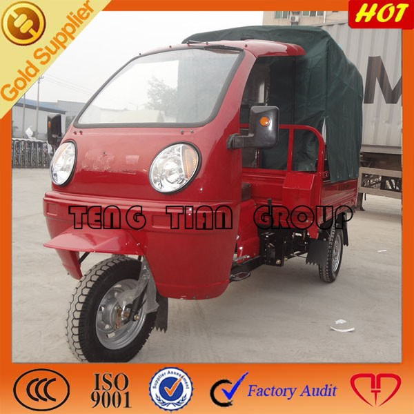 covered cabin for driver and roof for cargo box of tricycle/three wheel motorcycle