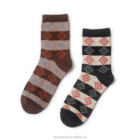 2015 high quality cheap casual Cotton man custom size business sock striped socks wholesale