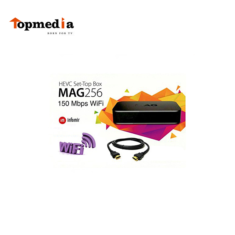 MAG 256 Original IPTV SET TOP BOX Multimedia Player Internet TV IP Receiver (HEVC H.256) faster than MAG254