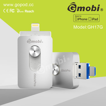 High Compatibility Gmobi iStick Pro Otg Phone USB Flash Drive Made For iPhone/iPad/Computers