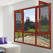 European standard aluminum casement window with net