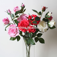 Factory new coming rose artificial plastic flower stems