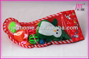 2013 christmas stocking cat toy set cat accessories