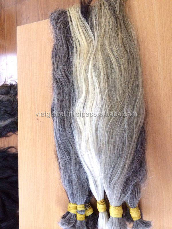 Wholesale factory price virgin grey hair bulk