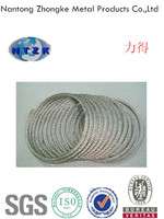 6*7+FC Galvanzied steel wire rope used for fish traps for sale
