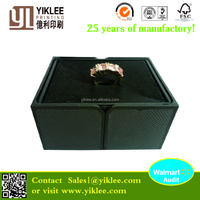 Flocking Insert Ring Boxes Black Jewelry Packing Middle Open Wholesale Box